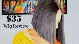 lace front bob wig review virgin hair dupe for 35 youtube