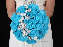blue flowers for wedding malibu blue wedding flowers with jewels complete wedding flower