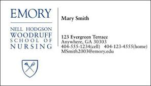 student business card career services nell hodgson woodruff school of nursing