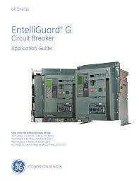 ge entelliguard circuit breaker application guide