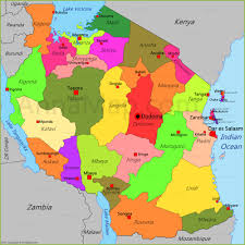 Map Of Tanzania Tanzania Map Map Of Tanzania Annamap Com