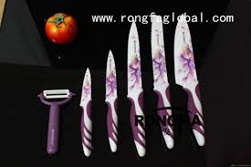 ceramic kitchen knives set everrich color knife set decal printing ceramic coating blade