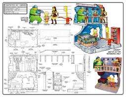 Simpsons Floor Plan Toy Design Samples By Chris Lauria At Coroflot Com