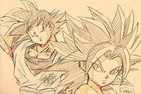 saiyan competition scope each other out in sketch from u201cdragon