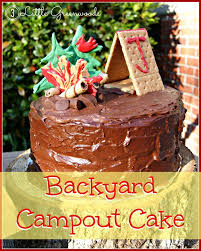 Backyard Campout Ideas 22 Best Camping Birthday Cakes Images On Pinterest Camping