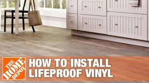 can i put cabinets on vinyl plank flooring how to install lifeproof vinyl flooring the home depot