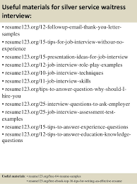 Example Waitress Resume by Top 8 Silver Service Waitress Resume Samples