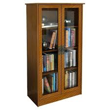 Metal Bookcase With Glass Doors Bookcase With Lock 4 Shelf Metal Bookcase W Locking Glass Doors