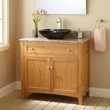36 vessel sink vanity 36 narrow depth halifax bamboo vessel sink vanity bathroom
