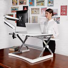 sit stand computer desk pricedepot flexispot m2b m2w height adjustable sit stand desktop