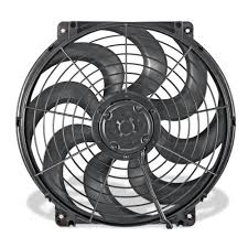flex a lite electric fan kit flex a lite automotive 24 volt 16 inch s blade reversible electric fan