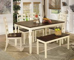 dining room tables amazon com ashley furniture signature design whitesburg dining