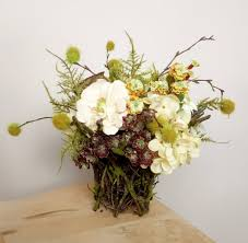 silk flower arrangement woodland floral arrangement floral