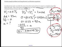 Challenge Physics Friction And Newton S Acceleration Equations Physics Challenge