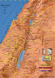 map of roads map of the roads in ancient israel bible history