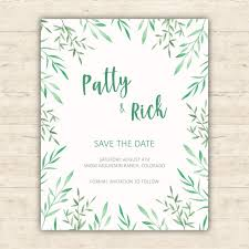 Free Save The Date Cards Minimalist Botanical Save The Date Card Vector Free Download