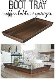 Dining Table Centerpiece Tray Diy Boot Tray To Coffee Table Organizer Boot Tray Trays And Coffee