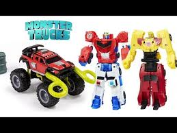 monster trucks ragin u0027 red big jump launch crash playset