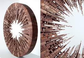 carved wood inspired by the energy of cities around the world
