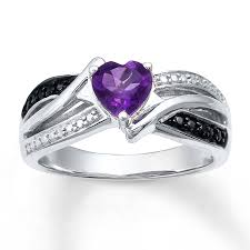 silver amethyst rings images Kay amethyst heart ring diamond accents sterling silver jpg