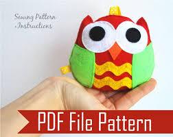 felt owl family diy owl sewing pattern the inspiration