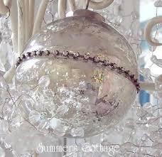 mercury glass tree ornaments pearl flower rhinestone