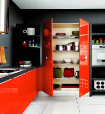 Orange Kitchen Decor by Kitchen Cool Colorful Kitchen Decor With White Plain Ceramic
