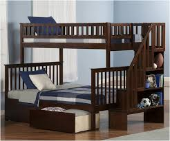 Bunk Bed With Steps Remarkable Double Bunk Beds With Stairs Brown Color Bunk Beds With