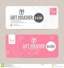 hotel gift certificates gift voucher template stock vector illustration of fashion 62424653