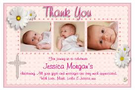 personalised christening thank you cards personalised baptism