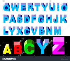 3d upper case letters stock vector 7304986 shutterstock
