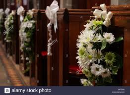wedding floral arrangements church pews wedding floral arrangements stock photos church pews