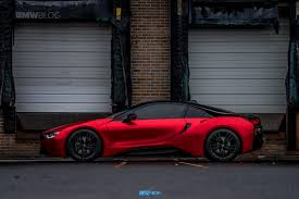 one of a kind bmw i8 in frozen red satin conform chrome http
