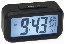 1 5 lcd number alarm clock with light sensor for time