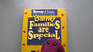 barney video families are special lyons edition vhs youtube