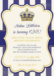 royal prince birthday invitation printable prince by pegsprints