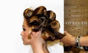pin curl pin curls with curling iron viva glam magazine