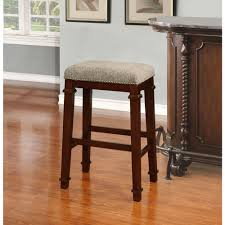 linon home decor kennedy 30 in walnut cushioned bar stool