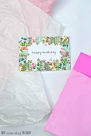 free birthday card my someday in may