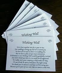wedding invitations ebay 25 wishing well wedding poem cards for your wedding invitations ebay