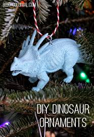 dino make ornaments from plastic animals