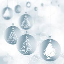 ornaments with ribbons on white stock photo