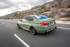 bmw m5 modified bmw m5 in matte military green looks ravishing drivers magazine
