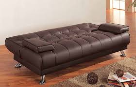 coaster furniture bryan 300148 brown bonded leather futon sofa bed