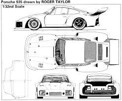 porsche 935 blueprint download free blueprint for 3d modeling
