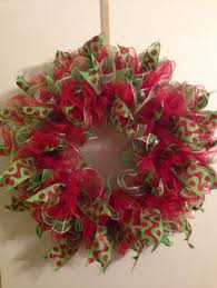 Decorating A Christmas Wreath With Mesh Ribbon by Christmas Deco Mesh Wreath Tutorial Deco Mesh Wreaths