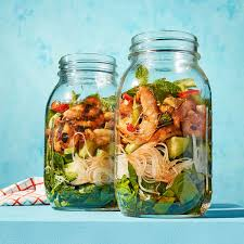 grilled shrimp u0026 rice noodle salad rachael ray every day