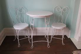 ice cream table and chairs vintage ice cream parlor table chair wrought iron shabby chic
