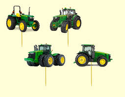 deere cake toppers edible deere tractor stand up cupcake toppers