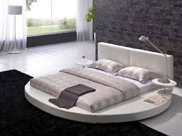 Circular Bed Frame Attractive Bed Design Featured In Minimalist Comfy Bedroom